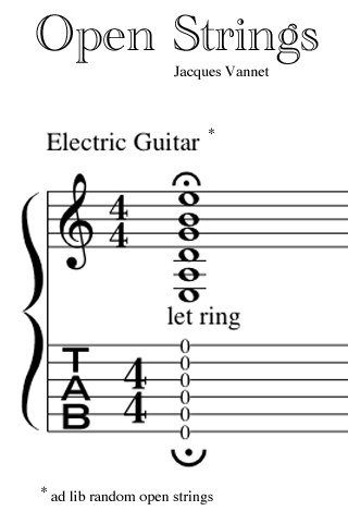 Open Guitar Strings