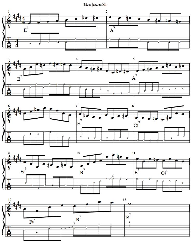 jackguitar.com : blues en mi