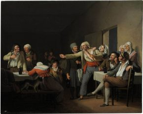 Les hommes se disputent, une toile de Louis-Léopold Boilly en 1818